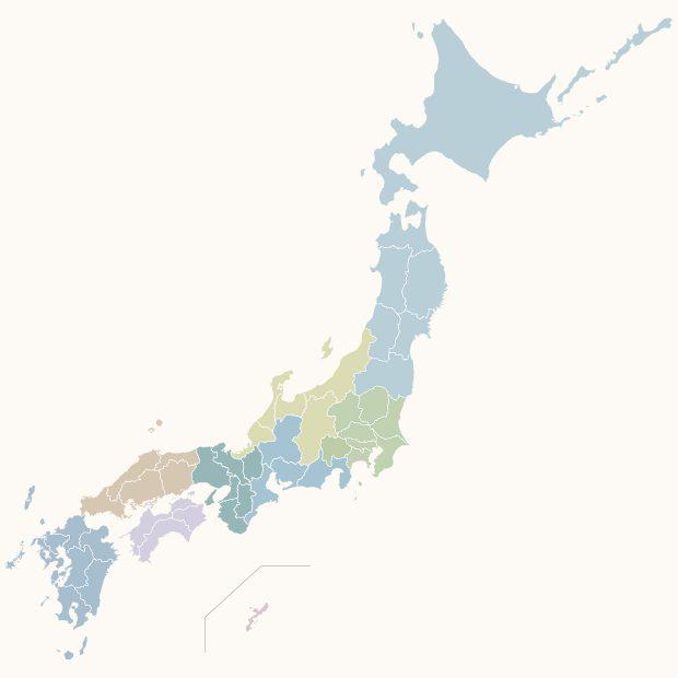 トワエトワ-ショップリスト用の日本地図