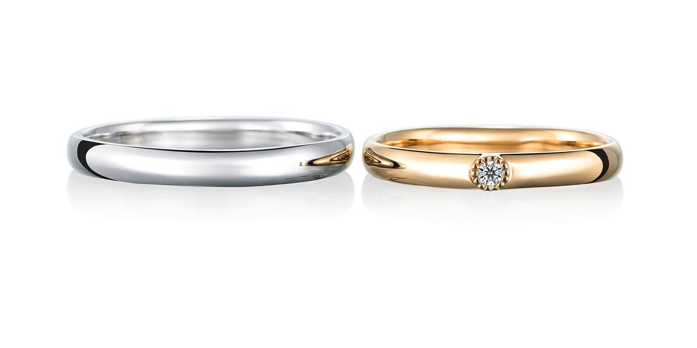 マリッジリング 結婚指輪 calme 【カルム】-穏やかな- MJ-21-22