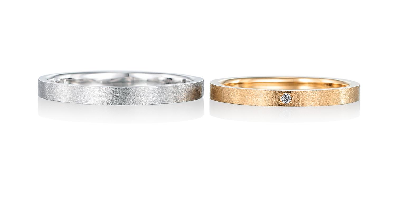マリッジリング 結婚指輪 doux 【ドゥ】-心地よい- MJ-1-2