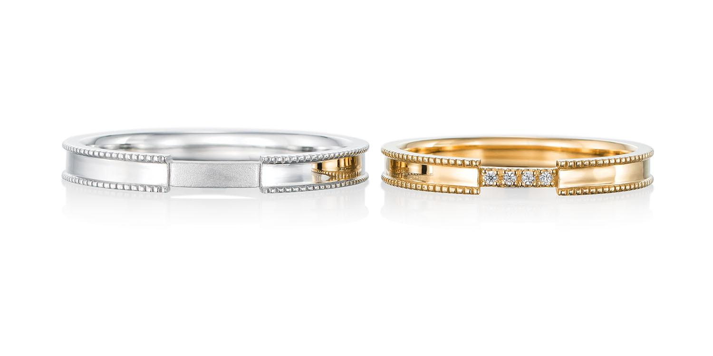 マリッジリング 結婚指輪 passerelle 【パスレル】-架け橋- MJ-37-38