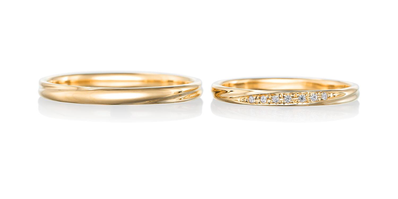 マリッジリング 結婚指輪 reconnaissance 【ルコネサンス】-感謝- MJ-63-64