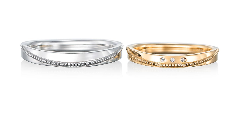 マリッジリング 結婚指輪 sourire 【スリール】-微笑み- MJ-49-50